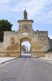Gate of St. Oronzo. Acaya. Vernole. Puglia. Italy. Stock Images