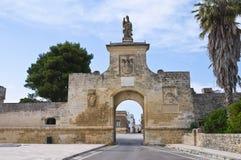 Gate of St. Oronzo. Acaya. Vernole. Puglia. Italy. Stock Photos