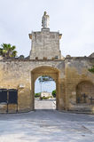 Gate of St. Oronzo. Acaya. Vernole. Puglia. Italy. Royalty Free Stock Images