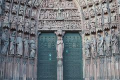 Gate of Strasbourg Cathedral Stock Photos