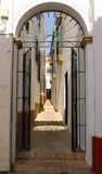 Gate street Carmona Royalty Free Stock Images