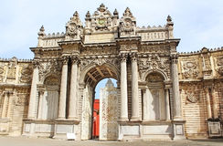 The Gate of the Sultan, Dolmabahce Palace Stock Image