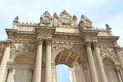 The Gate of the Sultan, Dolmabahce Palace, Istanbul Royalty Free Stock Photography