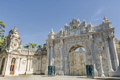 Gate of The Sultan, Dolmabahce Palace, Istanbul, Turkey Royalty Free Stock Photography