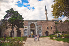 Gate of the Sultan at the Topkapi Palace Royalty Free Stock Images