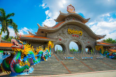 The gate at the Suoi Tien in Vietnam, in Ho Chi Minh city. royalty free stock photography