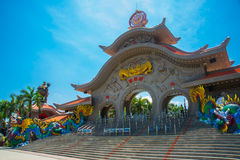 The gate at the Suoi Tien in Vietnam, in Ho Chi Minh city. Stock Photos
