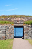 Gate in Suomenlinna fortress Stock Image