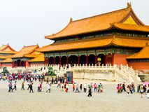Gate of Supreme Harmong of Beijing Forbidden City Stock Photo