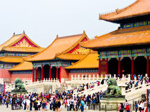 Gate of Supreme Harmong of Beijing Forbidden City Royalty Free Stock Photo
