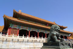 The gate of Supreme Harmony in the Forbidden City. Beijing, China Royalty Free Stock Images