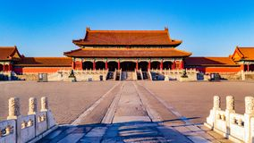 Gate of Supreme Harmony in the Forbidden City Stock Photo
