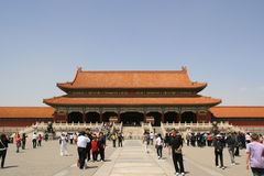 Gate of Supreme Harmony - Forbidden City - Beijing - China Royalty Free Stock Images