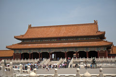Gate of Supreme Harmony in the Forbidden City, Beijing, China Stock Image