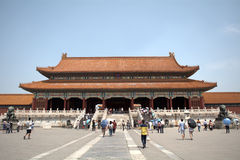 Gate of Supreme Harmony in the Forbidden City, Beijing, China Stock Photos
