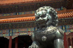 Gate of Supreme Harmony in the Forbidden City, Beijing, China Stock Photo