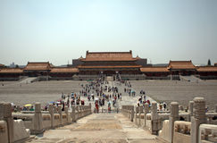 Gate of Supreme Harmony in the Forbidden City, Beijing, China Royalty Free Stock Photos