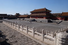 The gate of Supreme Harmony in the Forbidden City, Beijing Royalty Free Stock Photo