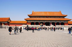 Gate of Supreme Harmony,Forbidden City, Beijing Stock Photography