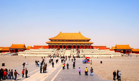 The Gate of Supreme Harmony in Forbidden City, Beijing, China Royalty Free Stock Photos