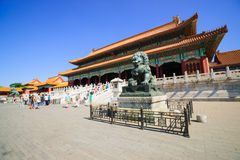 The Gate of Supreme Harmony in Forbidden City Royalty Free Stock Images