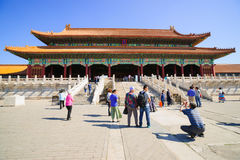 The Gate of Supreme Harmony in Forbidden City Stock Photography