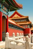 The Gate of Supreme Harmony in the Forbidden City. Side view. royalty free stock images