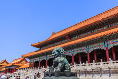 The Gate of Supreme Harmony with stairs Stock Photos