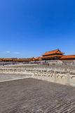 The Gate of Supreme Harmony with tourists Royalty Free Stock Photography