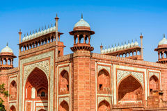 Gate in Taj Mahal, India. Gate in Taj Mahal and the blue sky, India Royalty Free Stock Images