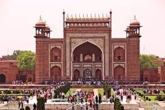Gate at Taj Mahal Stock Photo