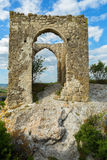 Gate on Tapshan Plateau of Cave City in Cherkez-Kermen Valley, Crimea Royalty Free Stock Photo