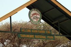 Tarangire gate. The gate of the tarangire national park in tanzania Stock Photo