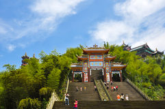 Gate of Temple in blue sky Royalty Free Stock Photo