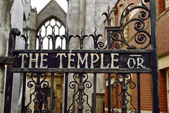Gate of Temple Church. Gate of old templar knight church that  is nothing more than a ruin, but it is still magnificent and beautiful.The historic Temple Church Royalty Free Stock Photo
