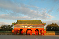 Gate, Temple of heaven. East gate of altar of prayer for good harvest in the temple of heaven, world historic heritage, Beijing China Royalty Free Stock Image