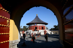 Gate of Temple of heaven. Ancient building in Temple of heaven, BeiJing, China Royalty Free Stock Images