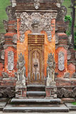 Gate of Temple with ornaments. Indonesia, Bali Royalty Free Stock Photos