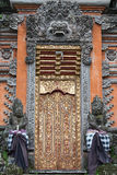 Gate of Temple with ornaments. Indonesia, Bali, Ubud Royalty Free Stock Photos