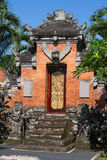 Gate of Temple with ornaments. Indonesia, Bali, Ubud Stock Image