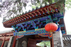 Gate in the Temple in Shao Lin. China stock photo