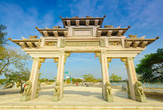 Gate of a temple under the blue sky Royalty Free Stock Photography