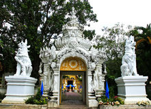 Gate of temple at Wat Phra Singh Stock Photos
