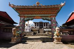 Gate of the Tengboche monastery Stock Images