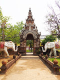 Gate of thai temple, wat Lokmolee Chiang Mai Thailand Stock Image