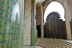 Gate and tiles in King Hassan II Mosque, Casablanca Royalty Free Stock Photos
