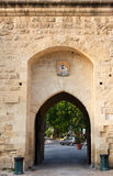 Gate to Aigues-Mortes Royalty Free Stock Photos