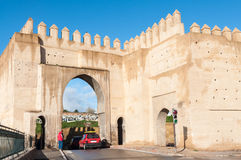 Gate to the ancient city of Fez Stock Photos