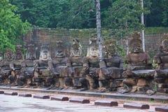 Gate to Angkor Wat monsoon season Stock Images