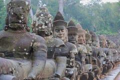 Gate to Angkor Wat monsoon season Royalty Free Stock Image